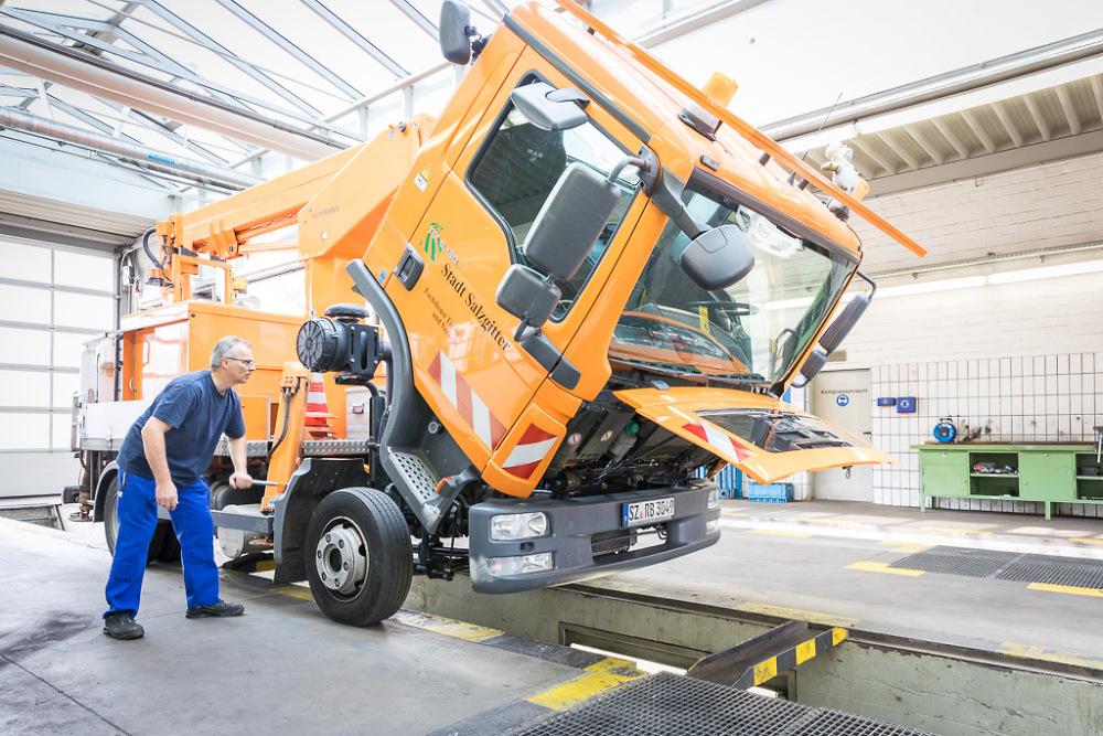 Werkstattservice für LKW